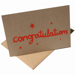 Handprinted Congratulations Card