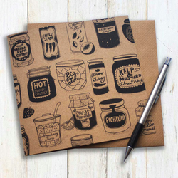 Jams and chutneys illustrated greeting card