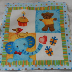 100% cotton fabric.  Elephant.  Sold separately, postage .62p for many (9)