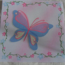 Polycotton squares. Butterfly.  Sold separately.  .62p postage on many (21)