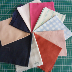 "10 Pieces poly cotton approx 9"" x 11"". Great for crafts (set 10)"