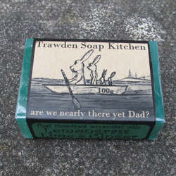 Are We Nearly there yet dad, fun organic  soap for fathers day, lemongrass, 100g