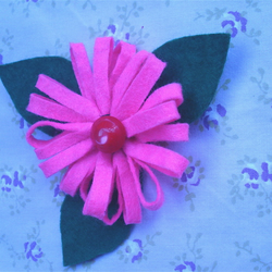 Brooch,Felt Flower