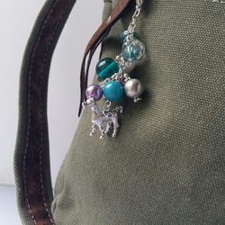 Colourful Beaded Llama Bag Charm