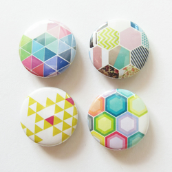 Geometric Pattern Badge Set