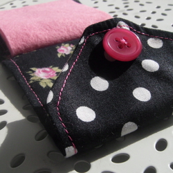 Polka Dots and Roses Needlebook