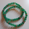 Green agate elasticated stacker bracelets