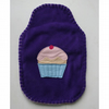 Fairy cake hot water bottle cover - purple