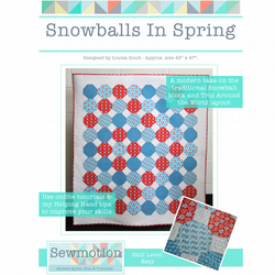 Snowballs In Spring Paper Quilt Pattern - Gifts for Quilters, Gifts for Crafters