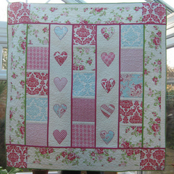 Patchwork heart quilt