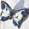 medium butterfly brooch - scrolled blue