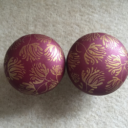 Pair of Polymer Clay Dark Red Drawer Door knobs Coat Hook