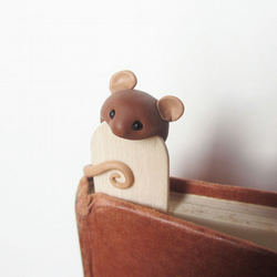 Handmade Mouse Bookmark Inspired by British Wildlife for Animal Lovers