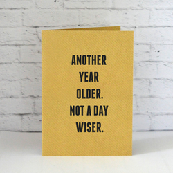 Another Year Older, Not a Day Wiser Birthday Card