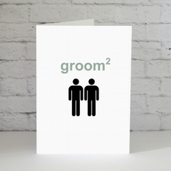 Groom Squared Gay Wedding Card