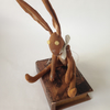 Handmade little hare.