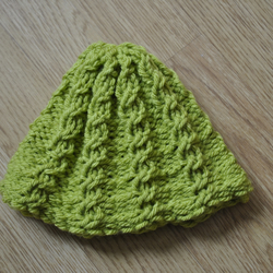Knitted Mock Cable Hat