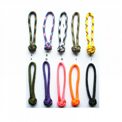 Paracord Zipper Pulls X 3  - 10 Colours to Choose