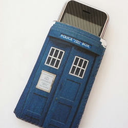 Doctor Who inspired Tardis Police Box iPhone Case