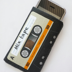 Orange Cassette Tape iPhone Case