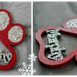 Personalised Paw Print Baubles