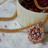 Pink and Gold Ninouk pendant