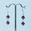 Custom Order for Ann Hall. Swarovski 8mm Bicone Earrings in Amethyst.