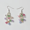 Pastel Cascade Earrings in Springtime Colours