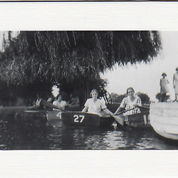 SALE - Boating Lake Image - Greetings Card or Notelet - Old Photo Print