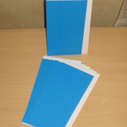 CLEARANCE -- Craft Supplies 7 x DL CARD BLANKS & ENVELOPES Kingfisher Blue