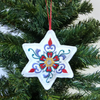 Christmas Star decoration, embroidered