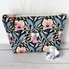 Liberty fabric make up bag, zipped pouch, cosmetic bag