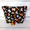 REDUCED: Dogs make up bag, zipped pouch, cosmetic bag,  medium size.