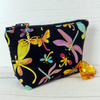 Dragonfly make up bag, zipped pouch, cosmetic bag