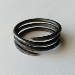Copper Pictish spiral ring - made to order
