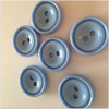 Pale Blue Buttons - 2 hole 14mm