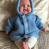 Hooded Jacket for Baby Boy to fit chest 18ins (46cms)
