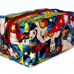 Limited Addition Red Wonder Woman Fabric Make up Box Bag