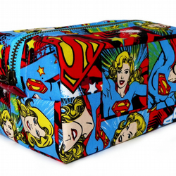 Limited Addition Blue Supergirl Fabric Make-up Box Bag