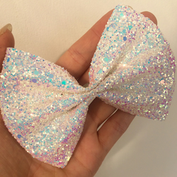 Sparkly hair bow (Unicorn sparkle)