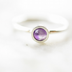 Amethyst Ring in Fine and Sterling Silver