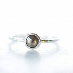 Pyrite Ring in Sterling Silver