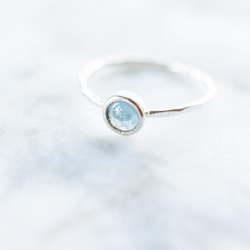 Aquamarine Ring in Sterling and Fine Silver