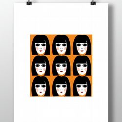 60s Girl Print - Retro Vintage 1960s Unframed
