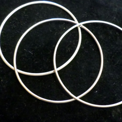 Classic Stacker Bangle, solid silver, smooth 1.8 mm wire