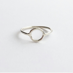 Sterling Silver Linear Dot Ring