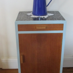 Retro Painted Wooden Cabinet