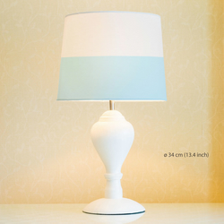 Pastel lines Lampshade. Diameter 34cm (13.4in). Ceiling or floor, table lamp.