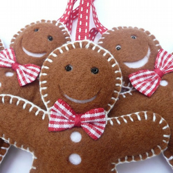Gingerbread Man Trio - Christmas Decorations