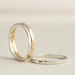 Stacking Rings - Gold Silver Stacking Rings - Thick Stacking Rings
